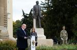 20211012 02 Klebelsberg Kunó szobrának koszorúzása, ünnepi megemlékezés, DE, BS